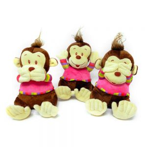 Monkey (hear/see/speak no evil) – 32″