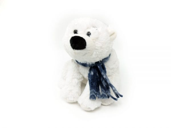 Polar bear with scarf – 8″