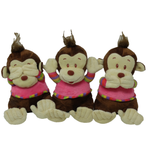 Monkey (hear/see/speak no evil) – 7″