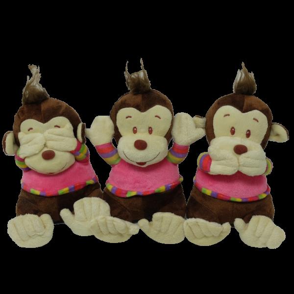 Monkey (hear/see/speak no evil) – 7″