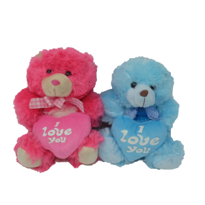 Coloured bear with heart (4 colours mixed) – 8″