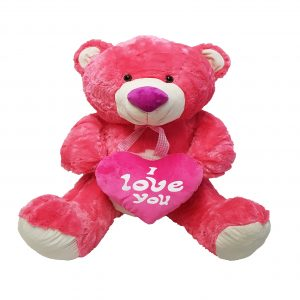 Coloured bear with heart (4 colours mixed) – 28″