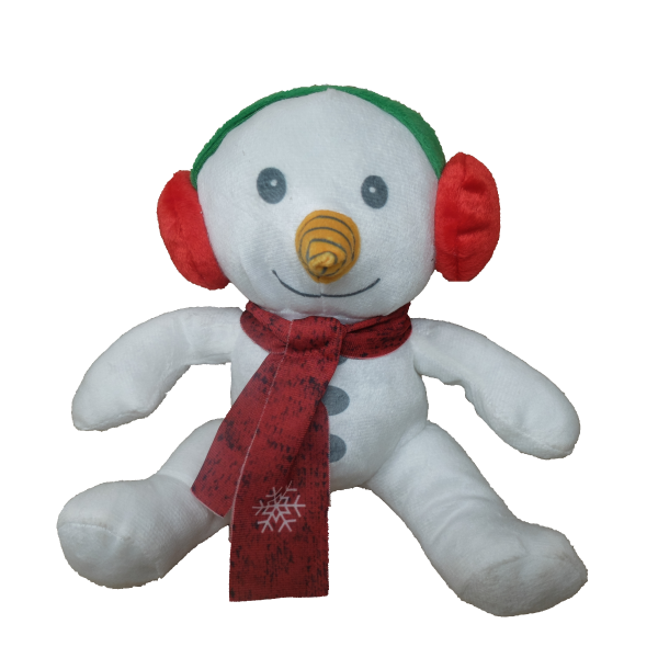 Snowman with ear muffs – 8″