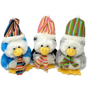 Penguins with Hat and Scarf (3 colours mixed)- 8″