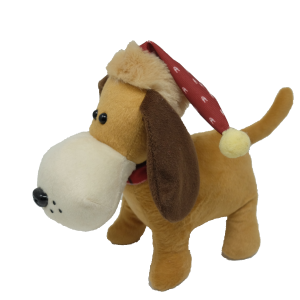 Xmas Dog with hat – 12″
