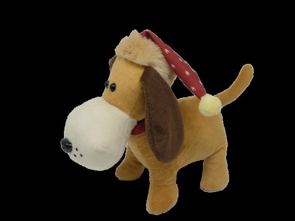 Xmas Dog with hat – 12″