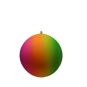 RAINBOW BALL 12″ (WITH KEY CHAIN)