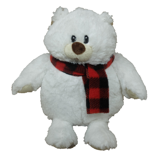 Xmas White Bear with scarf – 12″ (2 colours mixed per carton)
