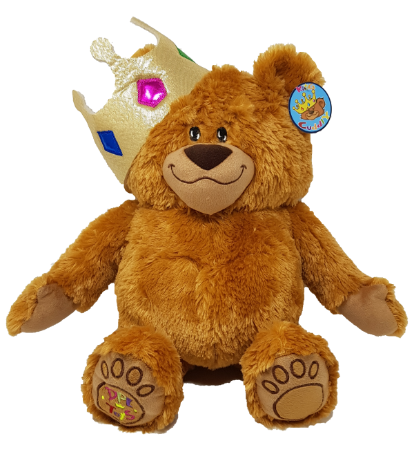 King Cuddly (2 colours mixed) GOLD crown – 8″