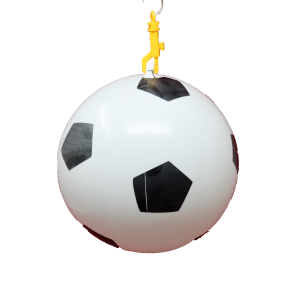 Inflatable football + key chain